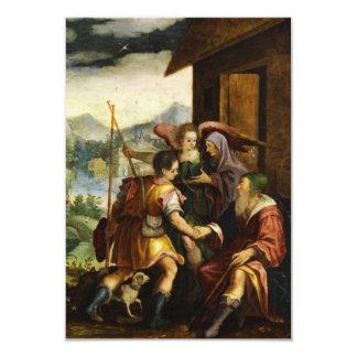 """Abraham despide a su hijo Ishmael en enero Soens Invitación 3.5"""" X 5"""""""