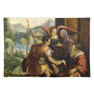 Abraham despide a su hijo Ishmael en enero Soens Manteles Individuales