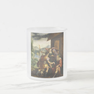 Abraham Dismisses his Son Ishmael by Jan Soens Frosted Glass Coffee Mug