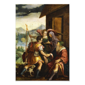 Abraham Dismisses his Son Ishmael by Jan Soens 3.5x5 Paper Invitation Card
