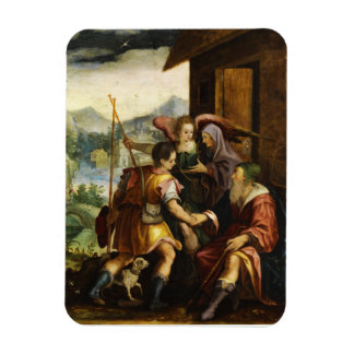 Abraham Dismisses his Son Ishmael by Jan Soens Rectangular Photo Magnet