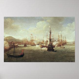 Abraham Duquesne en Quíos, después de 1681 Póster