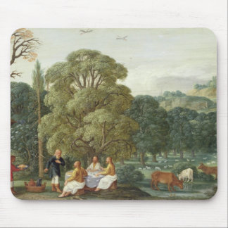 Abraham entertaining the Three Angels Mouse Pad