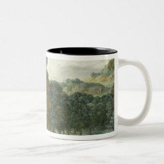 Abraham entertaining the Three Angels Two-Tone Coffee Mug