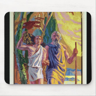 Abraham going to offer Isaac his son Mouse Pad