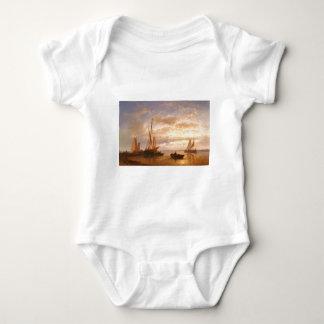 Abraham Hulk Dutch Fishing Vessels In A Calm At Su Baby Bodysuit