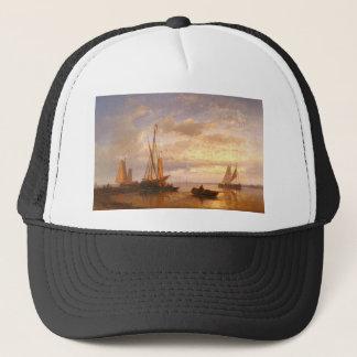 Abraham Hulk Dutch Fishing Vessels In A Calm At Su Trucker Hat