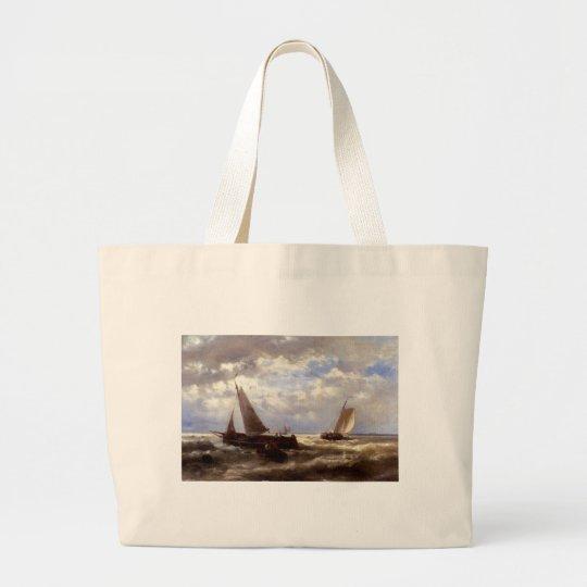 Abraham Hulk Snr A Windy Day Large Tote Bag