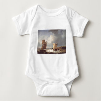 Abraham Hulk Snr Fisherfolk and Ships by the Coast Baby Bodysuit
