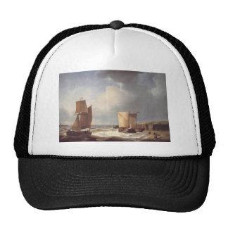Abraham Hulk Snr Fisherfolk and Ships by the Coast Trucker Hat
