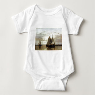 Abraham Hulk Snr Fishing In A Calm Baby Bodysuit