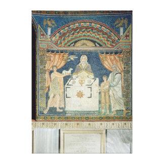 Abraham, Isaac and Melchisedech Canvas Print