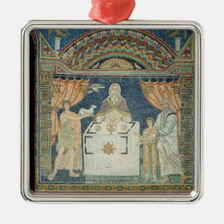 Abraham, Isaac and Melchisedech Metal Ornament