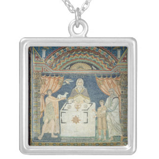 Abraham, Isaac and Melchisedech Silver Plated Necklace