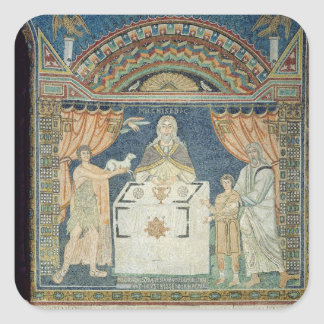 Abraham, Isaac and Melchisedech Square Sticker