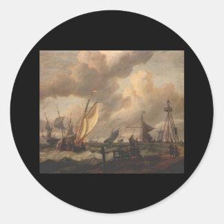 Abraham Jansz Storck Shipping Round Sticker