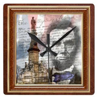 Abraham Lincoln 10 75 Square Wallclocks