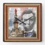 "Abraham Lincoln 10.75"" Square Wall Clock at Zazzle"