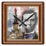 "Abraham Lincoln 10.75"" Square Wallclocks"