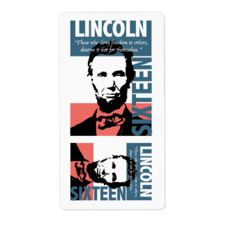 Abraham Lincoln 16th President Shipping Label