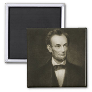 Abraham Lincoln, 16th President of the United Stat 2 Inch Square Magnet