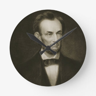 Abraham Lincoln, 16th President of the United Stat Round Clock