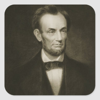 Abraham Lincoln, 16th President of the United Stat Square Sticker