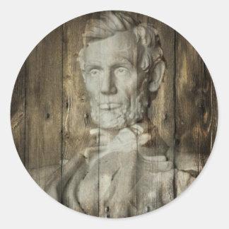 Abraham Lincoln 1809-1865 Pegatina Redonda