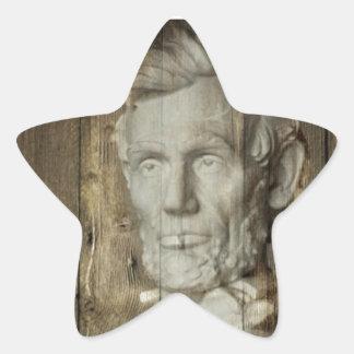Abraham Lincoln  1809-1865 Star Sticker