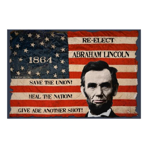 Abraham Lincoln 1864 Campaign Wall Poster