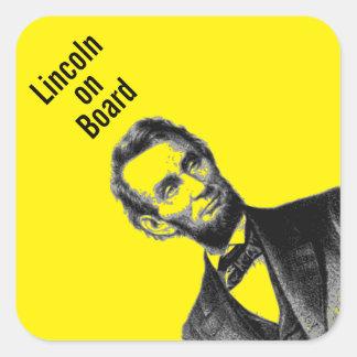 "Abraham Lincoln 1865 ""el gran emancipator "" Pegatina Cuadrada"