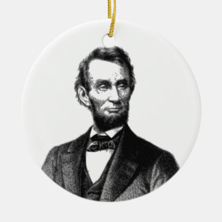 "Abraham Lincoln 1865 ""The great emancipator"" Ceramic Ornament"