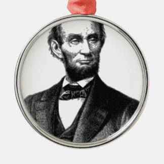 "Abraham Lincoln 1865 ""The great emancipator"" Metal Ornament"