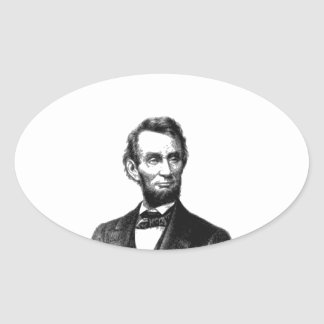 """Abraham Lincoln 1865 """"The great emancipator"""" Oval Sticker"""