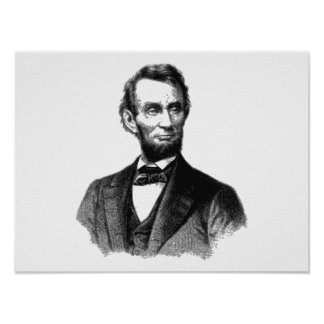 """Abraham Lincoln 1865 """"The great emancipator"""" Poster"""