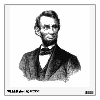 """Abraham Lincoln 1865 """"The great emancipator"""" Wall Sticker"""
