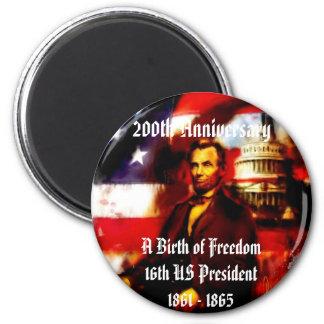 Abraham Lincoln 200th Anniversary Commemorative 2 Inch Round Magnet
