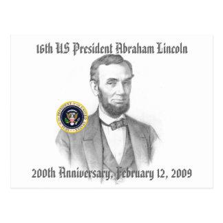 Abraham Lincoln 200th Anniversary Commemorative Postcard