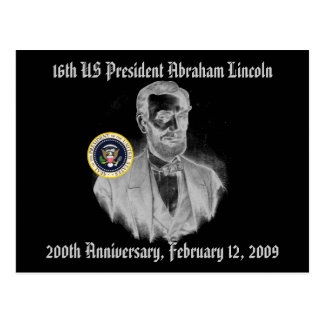 Abraham Lincoln 200th Anniversary Commemorative Postcard