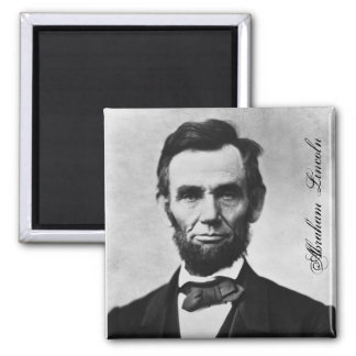 ABRAHAM LINCOLN 2 INCH SQUARE MAGNET