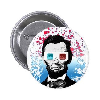 Abraham Lincoln - 3D Button