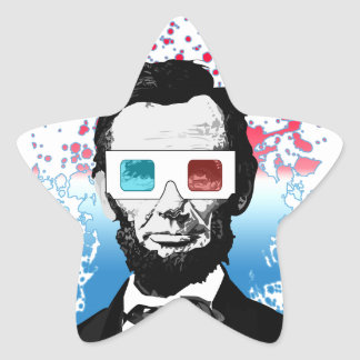Abraham Lincoln - 3D Star Sticker