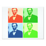 Abraham Lincoln 4.25x5.5 Paper Invitation Card