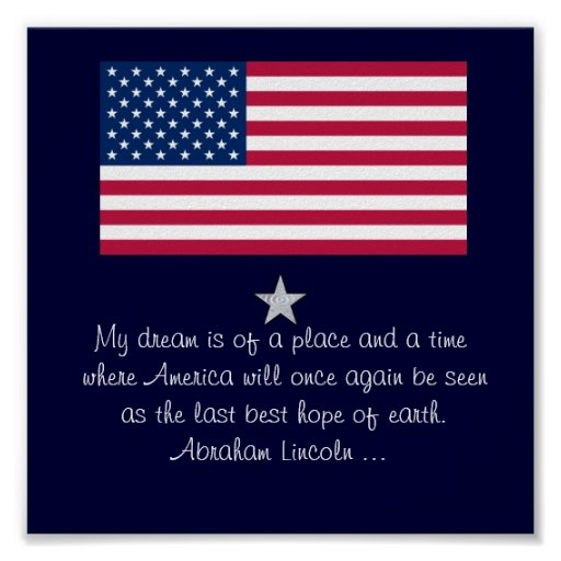 abraham lincoln 4th of july quote flag poster zazzle