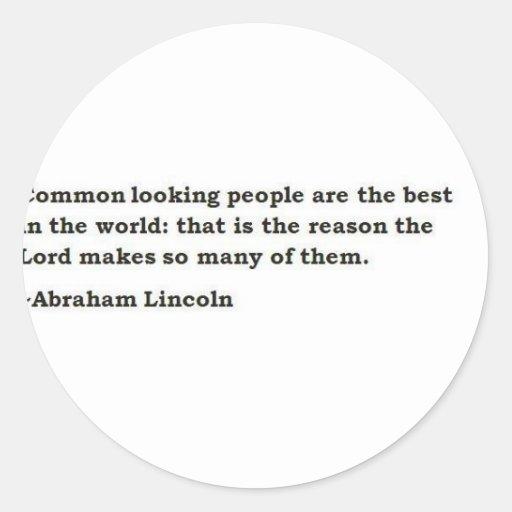 Abraham Lincoln 6 Pegatina Redonda