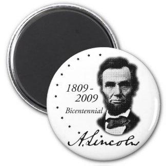 Abraham Lincoln (Abe) bicentenario Imán Redondo 5 Cm