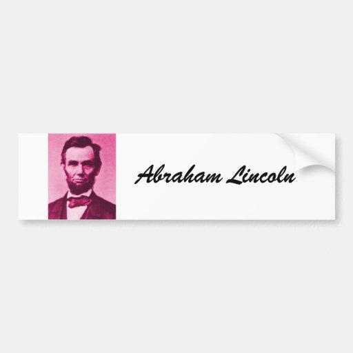 Abraham Lincoln, Abraham Lincoln Etiqueta De Parachoque