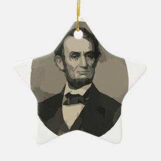 Abraham Lincoln Adorno Navideño De Cerámica En Forma De Estrella