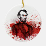 Abraham Lincoln Adorno Redondo De Cerámica