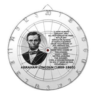 Abraham Lincoln All Men Should Be Free Slavery Dartboard